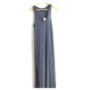 Theory cotton gray maxi dress S